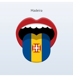 Madeira language Abstract human tongue vector