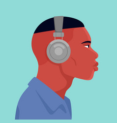man wearing headphone vector image