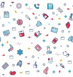 Medical healthcare seamless pattern vector