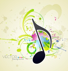 music style background vector image