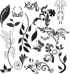 nature elements vector image vector image