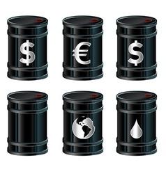 oil drum vector image