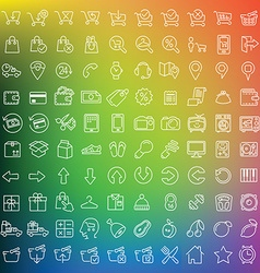 One hundred icons set vector image