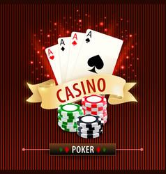 online poker card gambling games banner vector image