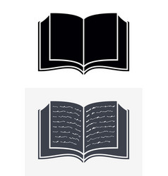 open book icons sign for your company vector image vector image