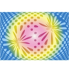 Optical abstract on sweet color background vector
