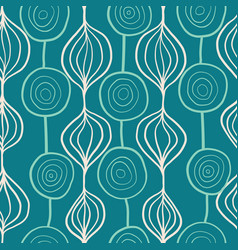 organic abstract shapes pattern ornamental vector image