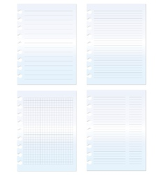 paper set graph and lined vector image