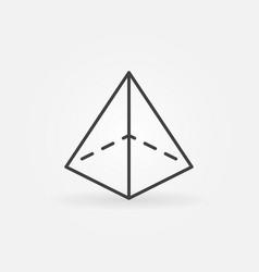 Pyramid icon vector