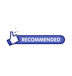 recommended icon line label recommended vector image
