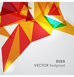 Red and yellow geometric transparency vector