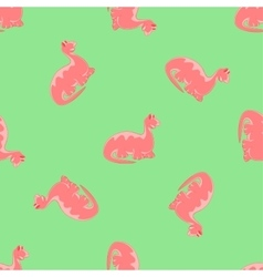 Red dinosaurs Green background vector