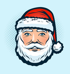 santa claus in hat christmas or new year vector image