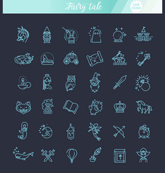 Simple set of fantasy related line icon vector