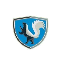 Skunk Prancing Side Crest Retro vector