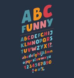 slanted style vintage 3d sans serif font rounded vector image