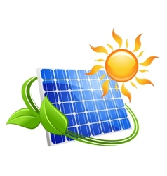 Solar energy eco concept vector