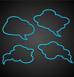 Speech notification paper frames vector image