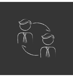 Staff turnover Drawn in chalk icon vector