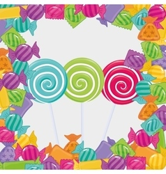 sweet candy shop vector image