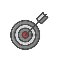 target marketing icon target with arrow symbol vector image