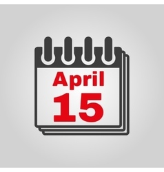 The Calendar 15 april icon Tax day vector image