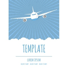 travel poster template vector image