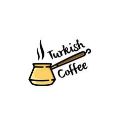 turkish coffee logo vector image