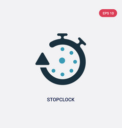 Two color stopclock icon from travel 2 concept vector