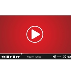 Video player template for web vector image