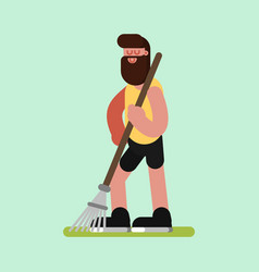 Voluntire clean up the garden vector