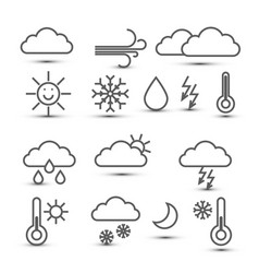weather icons isolated on white background vector image