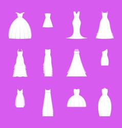 wedding dresses set on mannequin vector image