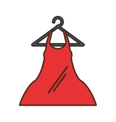 Woman blouse hanging on hook vector