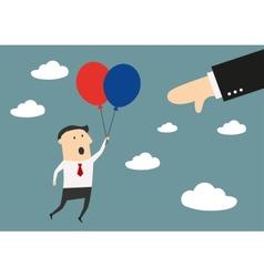 Businessman quickly flies to success vector