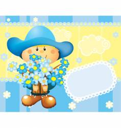 card boy vector image