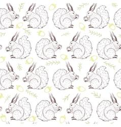 seamless cute squirrel vector image vector image