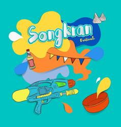 Songkran thai festival water party vector