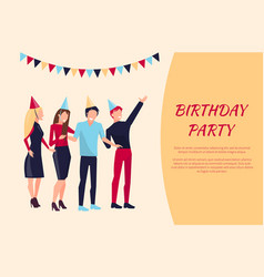 birthday party celebration vector image vector image
