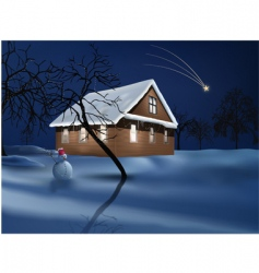 christmas magic vector image vector image
