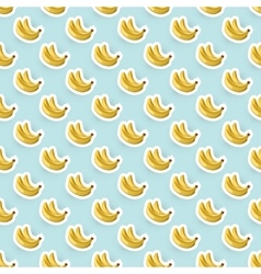 Seamless Background with Bananas vector image