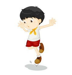 Small child jumping vector image vector image