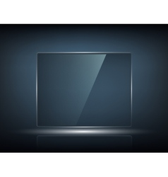 transparent touch screen vector image vector image