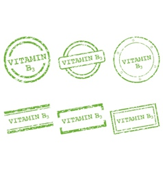 Vitamin B3 stamps vector image vector image