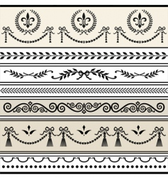 antique scroll borders vector image vector image
