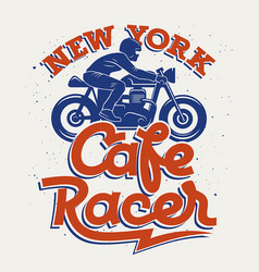 cafe racer 005 vector image