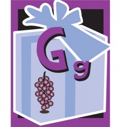 flash card g vector image vector image