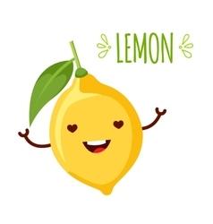 happy cartoon lemon vector image