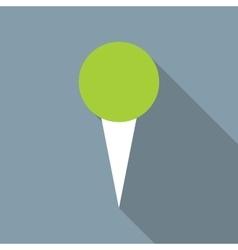 Pin Flat Icon vector image vector image