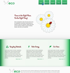 Template of the green site vector image